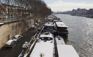 Le 13 mars 2013, au lendemain de fortes chutes de neige à Paris.