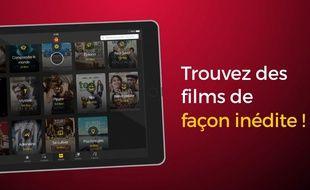 Capture d'écran d'une vidéo promotionnelle pour Allociné Home.