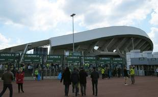 Le parvis du stade de la Beaujoire à Nantes.