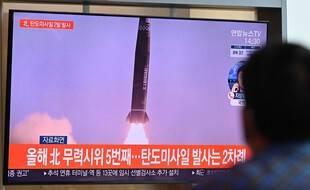 La télévision sud-coréenne a diffusé les images nord-coréennes du lancement.