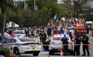 Un homme est mort percuté par une camionnette lors d'une gay pride en Floride, le 19 juin 2021.