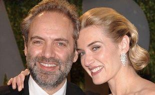 Sam Mendes et son ex-femme Kate Winslet arrivent à la soirée «Vanity Fair» qui suit la cérémonie des Oscars, à West Hollywood, le 24 février 2009.