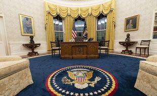 Le bureau ovale de la Maison Blanche dans lequel s'est installé Joe Biden le 20 janvier 2021.