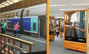 Les images sont exposées au niveau -1 du centre commercial Rivétoile.