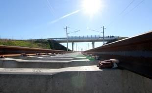 Le chantier de la LGV Bretagne, ici près de Rennes.