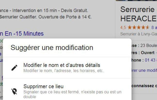 Modification des informations d'un profil Google.