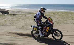 Le pilote moto Cyril Desprès, lors de la première étape du Dakar, entre Mar del Plata et Santa Rosa, le 1er janvier 2011.