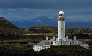 Un phare de l'île écossaise Uvla. Illustration.
