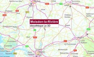 Une bagarre a éclaté sur le parking d'une boîte de nuit à Moisdon-la-Rivière.