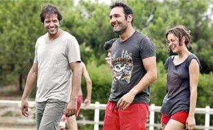Au casting, les comédiens Laurent Lafitte, Gilles Lellouche et Marion Cotillard.
