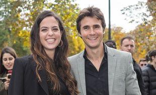 Anouchka Delon et son compagnon  Julien Dereins lors du défilé Elie Saab de la Fashion Week de Paris en septembre 2019