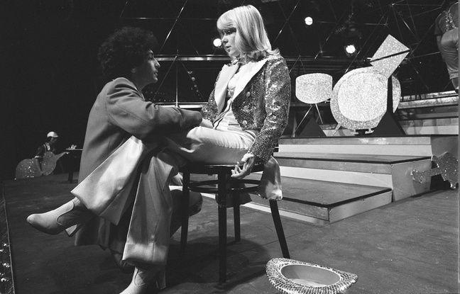 France Gall et Michel Berger le 23 mai 1976 sur un plateau télé.