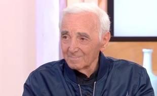Charles Aznavour dans «C à vous» vendredi 28 septembre 2018