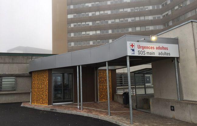 L'entrée des urgences de l'hôpital Hautepierre, à Strasbourg.