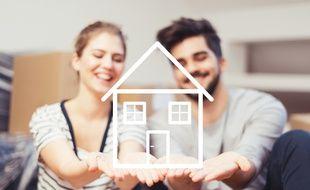 Ils rêvent d'acheter une maison pour matérialiser leur bonheur, illustration.