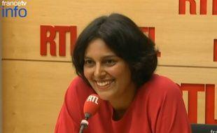 La ministre du Travail Myriam El Khomri sur RTL le 3 septembre 2015.
