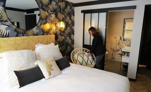 Une chambre de l'hôtel Maisons du monde.