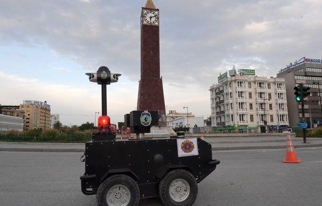 Coronavirus: A Tunis, un robot policier fait régner le confinement