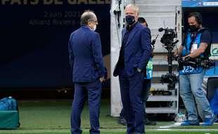 Noël Le Graët et Didier Deschamps lors de la préparation de l'Euro 2021.
