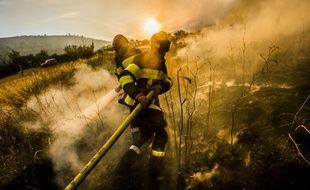 Le feu de Foret est parti de Saint Cannat (prés d Aix en Provence) et a parcouru environ 750 hectares, fin juillet 2017.