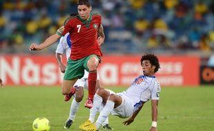 Abdelaziz Barrada avec le Maroc face au Cap Vert, à la CAN 2013