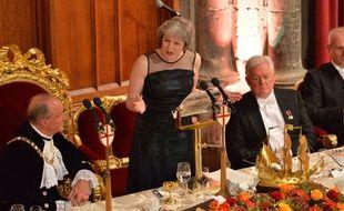 Theresa May au dîner annuel du Lord-maire de la City de Londres, le 13 novembre 2017.