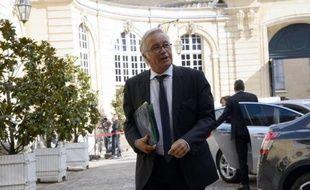 Le ministre du Travail François Rebsamen à l'hôtel Matignon, le 21 août 2014