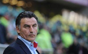 L'entraîneur de Saint-Etienne Christophe Galtier, à la Beaujoire.