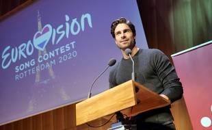 Tom Leeb, après la révélation de sa chanson pour l'Eurovision 2020, le 16 février 2020.