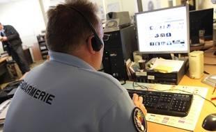 Un gendarme luttant contre la pédopornographie sur Internet. (Illustration)