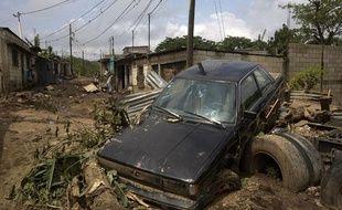 Les dégâts de la tempête Agatha dans la ville d'El Pedregal au Guatemala le 31 mai 2010.