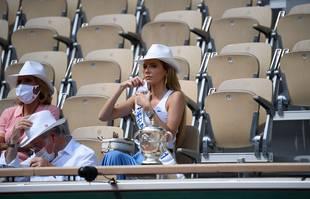 La Miss France 2021 Amandine Petit, le 10 juin 2021, à Roland-Garros.