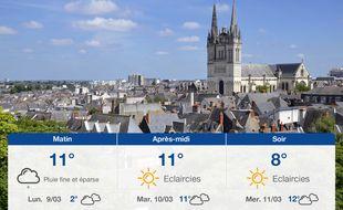 Météo Angers: Prévisions du dimanche 8 mars 2020