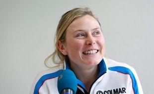 La skieuse française Tessa Worley, le 18 décembre 2013 à Lyon.