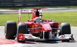 Fernando Alonso lors des qualifications du Grand Prix d'Italie, le 11 septembre 2010 à Monza.