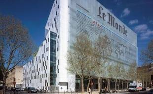 Le siège du journal «Le Monde» dans le 13e arrondissement de Paris.