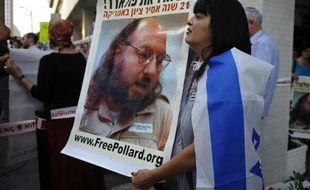 Des manifestants israéliens réclament la libération de l'espion Jonathan Pollard devant l'ambassade des Etats-Unis à Tel Aviv le 19 juin 2011