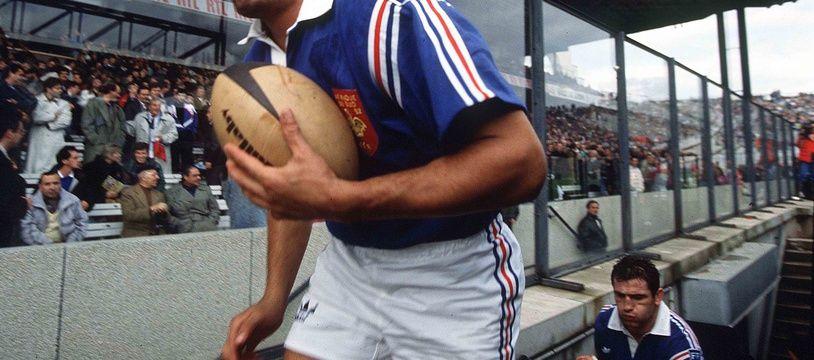 Marc Cecillon, lors du test match France-Afrique du Sud, le 17 octobre 1992