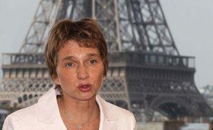 La présidente du Medef, Laurence Parisot, lors d'un forum économique, le 8 avril 2011, à Paris.