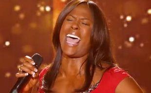 Extrait de «The Voice» sur TF1, où Jessica Plésel avait repris du Johnny pour son audition à l'aveugle