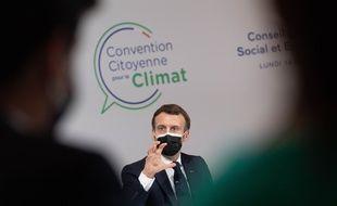 Emmanuel Macron, le 14 décembre 2020 devant la Convention citoyenne pour le climat.