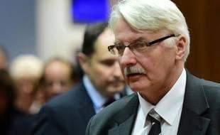 Le ministre polonais des Affaires étrangères, Witold Waszczykowski, à Bruxelles le 14 décembre 2015