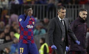 Ousmane Dembélé a subi une énième blessure musculaire  face au Borussia Dortmund.
