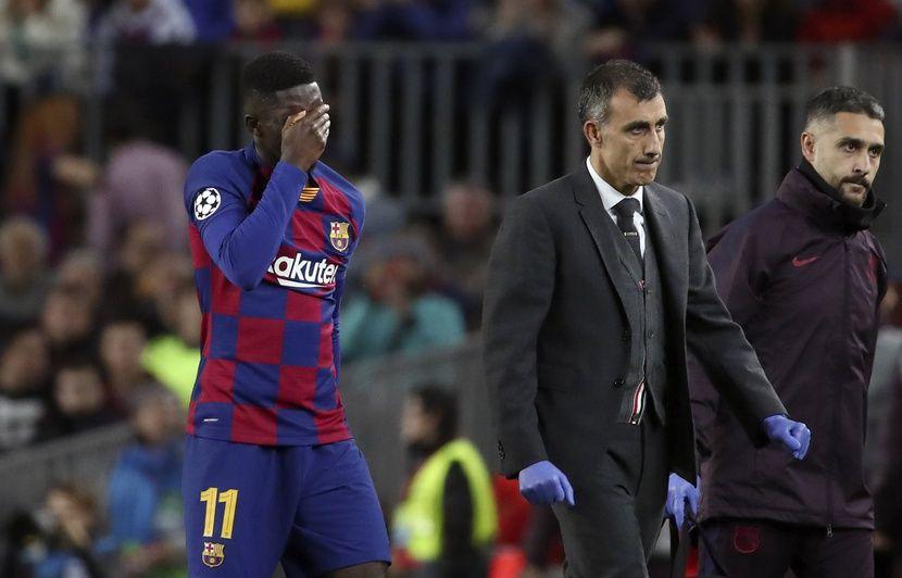 Ligue des champions : Dembélé sort en larmes après sa 150e blessure musculaire avec le Barça