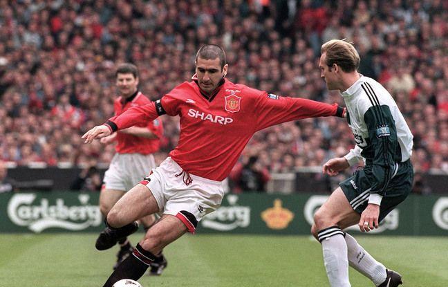 Eric Cantona sous le maillot de Manchester United