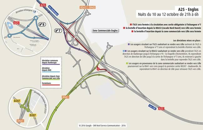 Les restrictions de circulation la semaine du 10 au 16 octobre.
