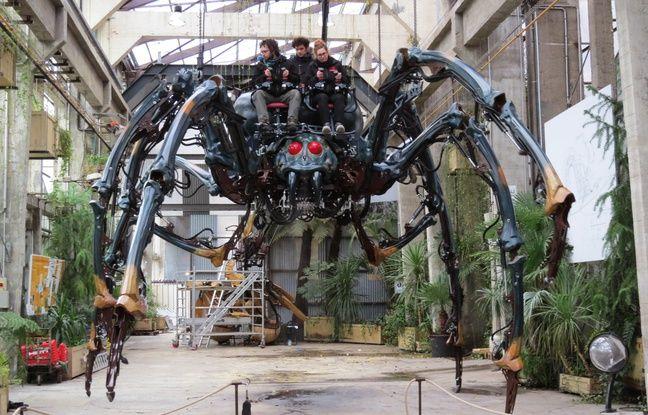 L'araignée géante sera visible dès samedi à la Galerie des Machines.