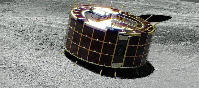 Image d'illustration de deux rovers Minerva sur la surface de l'astéroïde Ryugu.