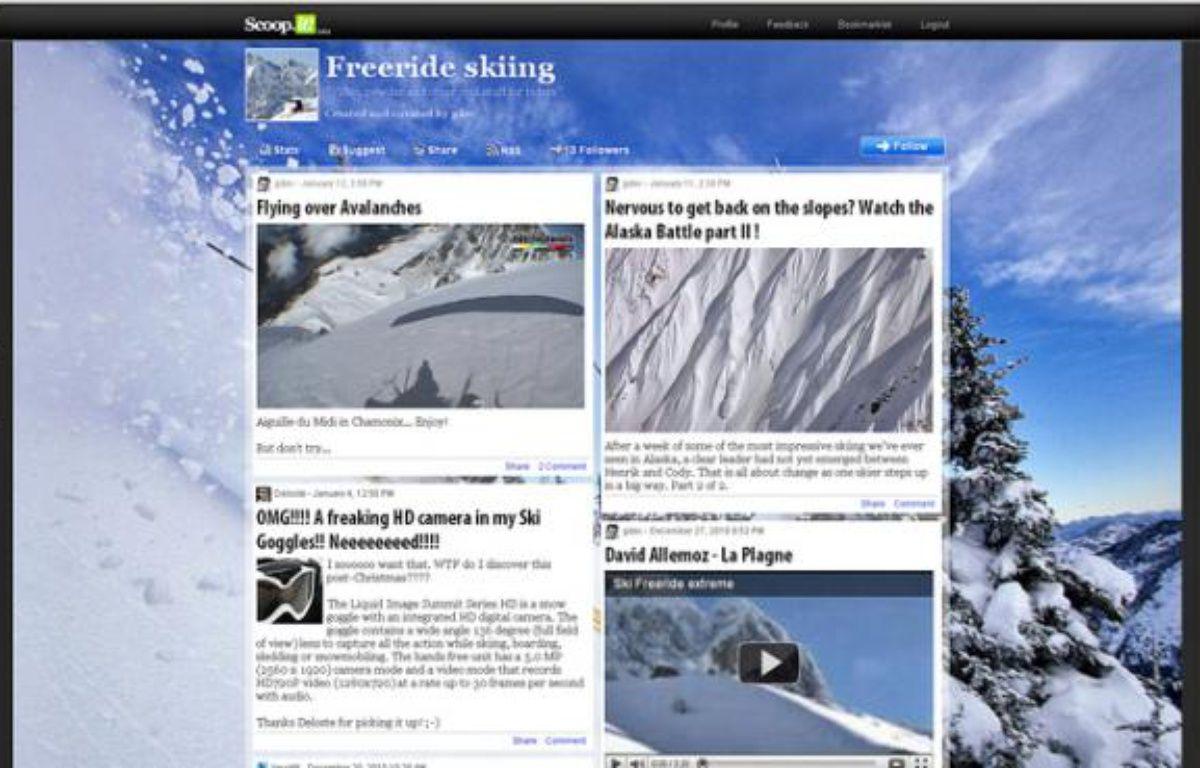 Capture d'écran du site scoop.it – DR