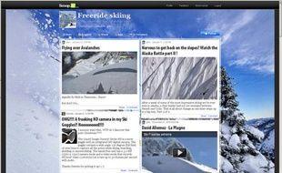 Capture d'écran du site scoop.it